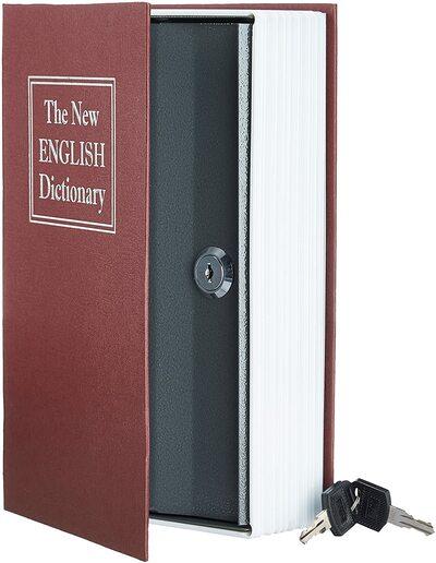 Caja de seguridad en forma de libro Amazon