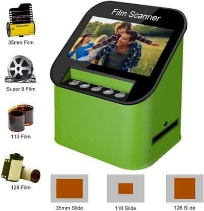 Escáner de Diapositivas y Negativos con 4.3 LCD