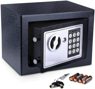 Meykey Caja Fuerte Pequeña Caja Seguridad