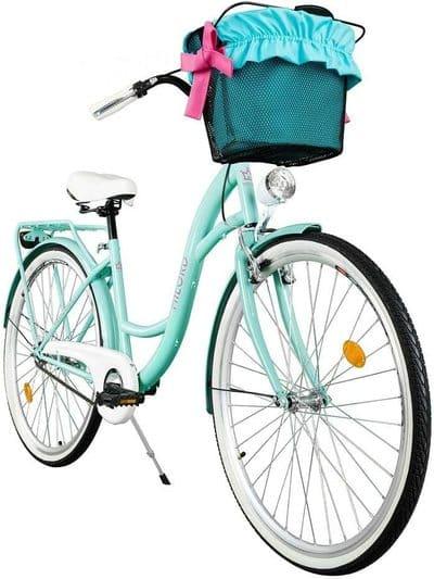 Bicicleta de ciudad con canasta Milord
