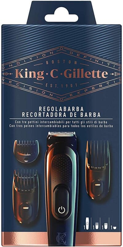 Recortadora de barba inalámbrica Gillette King C
