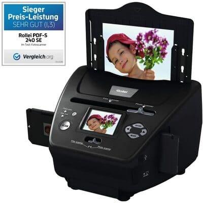 Rollei PDF-S 240 SE - Multi escáner de 5,1 megapíxeles para diapositivas, negativos y foto