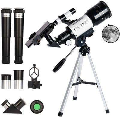Telescopio para principiantes y niños ESAKO KO370 Lente Barlow