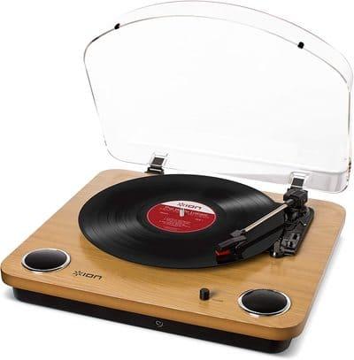 Tocadiscos Estilo Moderno de 3 Velocidades ION Audio Max LP Wood