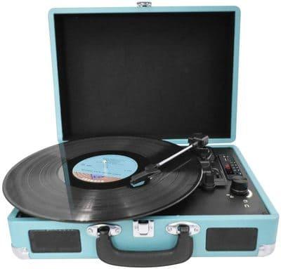 Tocadiscos de Vinilo Vintage Reproductor Bluetooth y USB PRIXTON VC400W