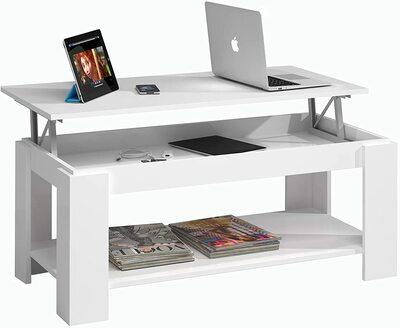 Mesa con revistero elevable Habitdesign