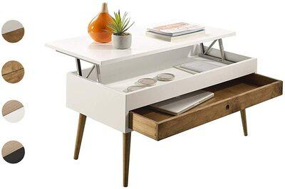 Mesa de centro elevable con cajón estilo vintage Hogar24