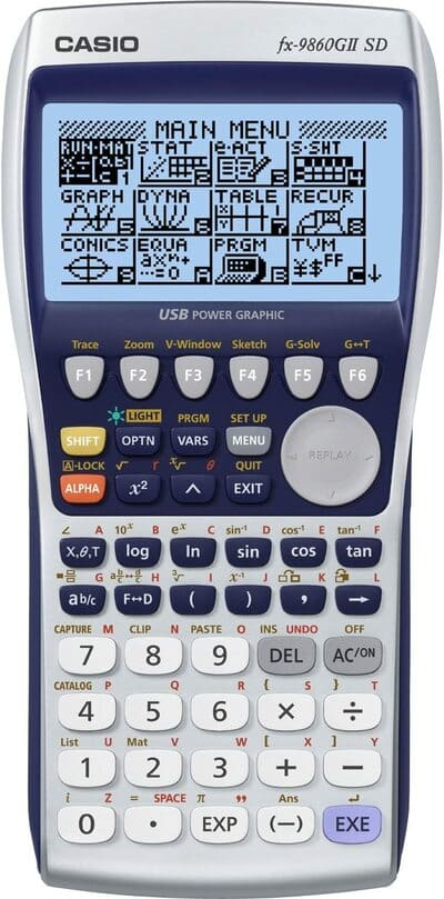 Calculadora gráfica Casio FX 9860GII SD Power