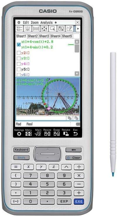 Calculadora gráfica Casio FX CG500 Touchscreen
