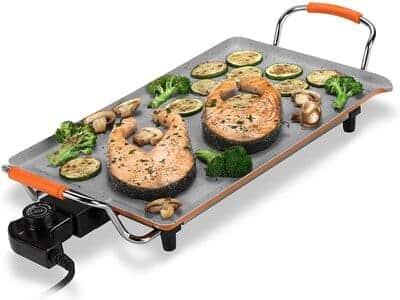Plancha de asar y grill eléctrico Novohogar