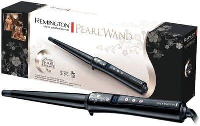 Rizador de pelo Remington cónico de cerámica perlada