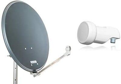 Antena parabólica con LNB Opticum Stahl QA60