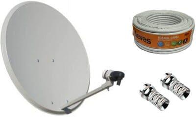 Tecatel Kit de antena parabólica de 60 centímetros