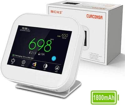 Medidor de CO2 Curconsa portátil pantalla LCD 3,5 pulgadas