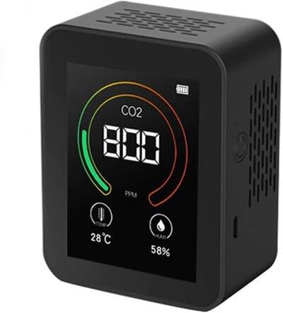 Medidor de CO2 QAQQQ con Función de Alarma Inteligente