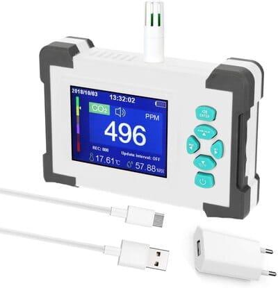 Medidor detector de CO2 Honorall portátil con estuche
