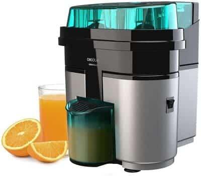 Exprimidor de naranjas eléctrico CECOTEC Essential Vita Twice Black