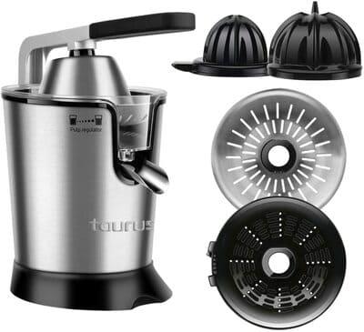 Exprimidor eléctrico de acero inoxidable Taurus Easy Press