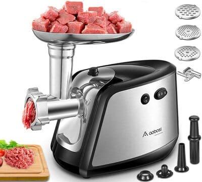 Picadora de carne eléctrica de 1200W 3 in 1 Aobosi