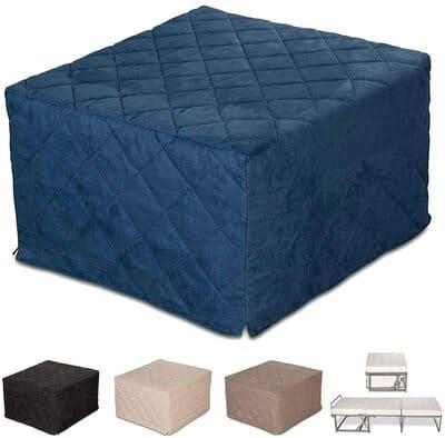 Cama individual plegable con funda para sofá EvergreenWeb