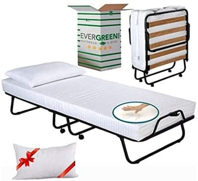 Cama plegable con colchón ortopédico EvergreenWeb