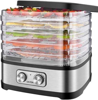 Deshidratadora de frutas y verduras con bandejas ajustables OSTBA