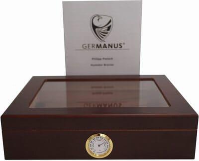 Humidor de puros Mensalla con higrómetro marca Germanus