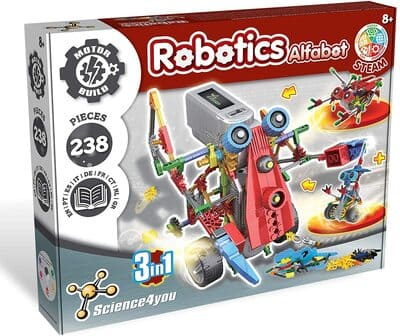 Kit robótico infantil Robotics Alfabot 3 en 1 de Science4you